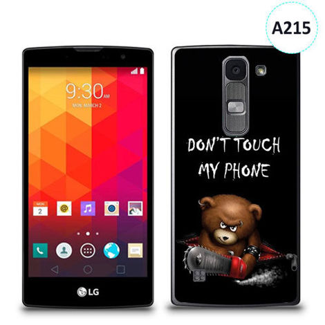 Etui silikonowe z nadrukiem LG Spirit - don't touch my phone bear