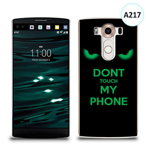Etui silikonowe z nadrukiem LG V10 - don't touch my phone eyes