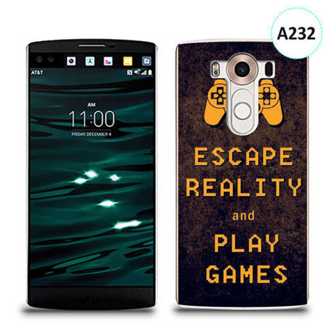 Etui silikonowe z nadrukiem LG V10 - escape reality and play games