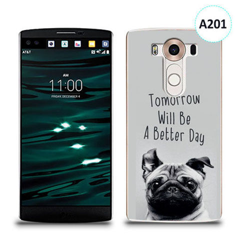 Etui silikonowe z nadrukiem LG V10 - tomorrow will be a better day
