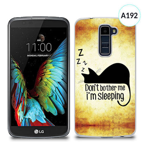 Etui silikonowe z nadrukiem Lg K10 - don't bother me i'm sleeping