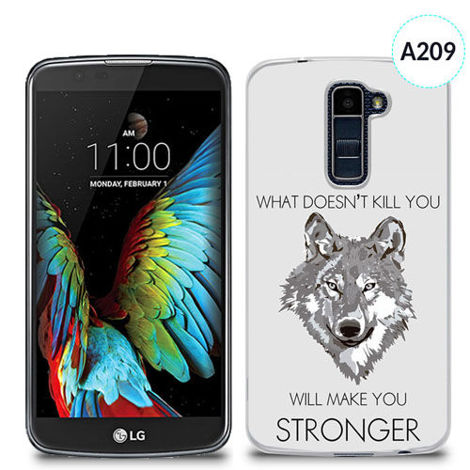 Etui silikonowe z nadrukiem Lg K10 - what doesn't kill you will make you stronger