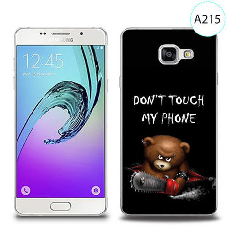 Etui silikonowe z nadrukiem Samsung Galaxy A5 2016 - don't touch my phone bear