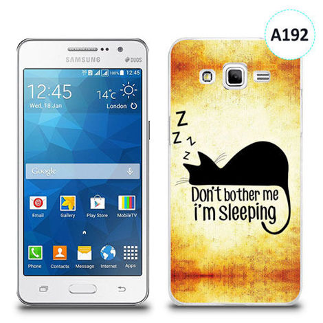 Etui silikonowe z nadrukiem Samsung Galaxy Grand Prime - don't bother me i'm sleeping