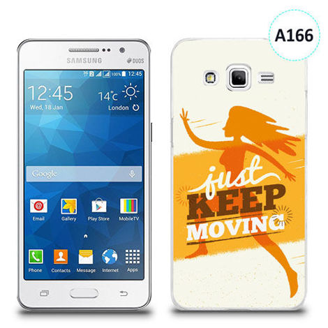 Etui silikonowe z nadrukiem Samsung Galaxy Grand Prime - just keep moving