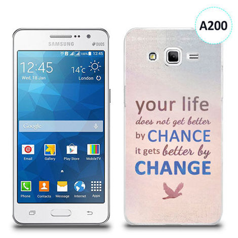 Etui silikonowe z nadrukiem Samsung Galaxy Grand Prime - your life doesn't get better by chance