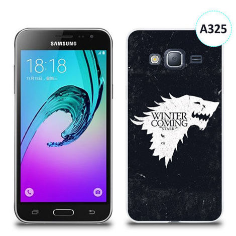 Etui silikonowe z nadrukiem Samsung Galaxy J3 2016 - gra o tron winter is coming