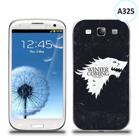 Etui silikonowe z nadrukiem Samsung Galaxy S3 -  gra o tron winter is coming