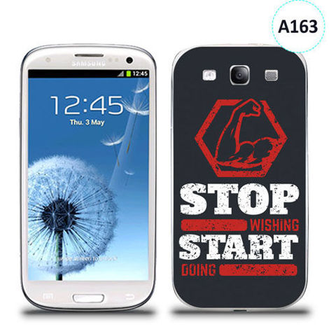 Etui silikonowe z nadrukiem Samsung Galaxy S3 - stop wishing start doing