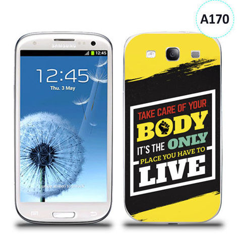 Etui silikonowe z nadrukiem Samsung Galaxy S3 - take care of your body