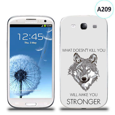 Etui silikonowe z nadrukiem Samsung Galaxy S3 - will make you stronger