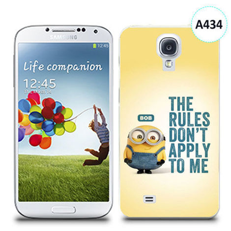 Etui silikonowe z nadrukiem Samsung Galaxy S4 - minion the rules don't apply to me