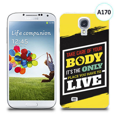 Etui silikonowe z nadrukiem Samsung Galaxy S4 - take care of your body