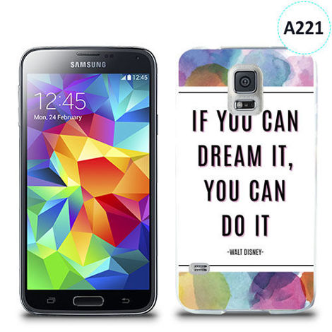 Etui silikonowe z nadrukiem Samsung Galaxy S5 - if you can dream it you can do it