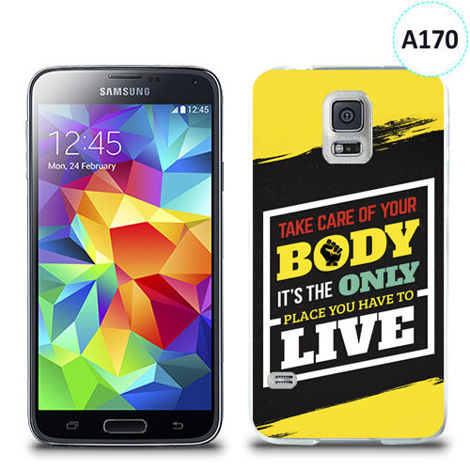 Etui silikonowe z nadrukiem Samsung Galaxy S5 -  take care of your body
