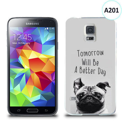 Etui silikonowe z nadrukiem Samsung Galaxy S5 - tomorrow will be a better day