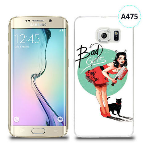 Etui silikonowe z nadrukiem Samsung Galaxy S6 Edge Plus - bad girls