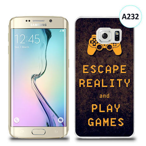 Etui silikonowe z nadrukiem Samsung Galaxy S6 Edge Plus - escape reality and play games
