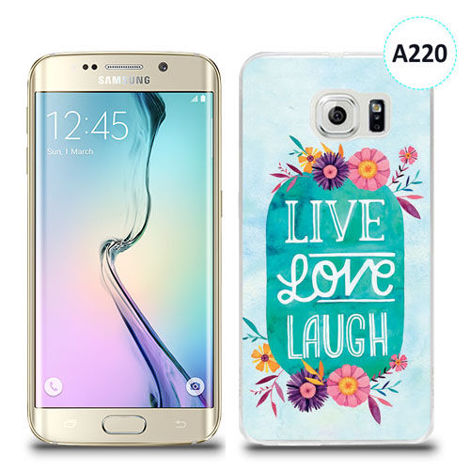 Etui silikonowe z nadrukiem Samsung Galaxy S6 Edge Plus - live love laugh