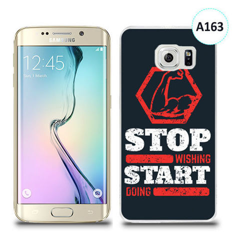 Etui silikonowe z nadrukiem Samsung Galaxy S6 Edge Plus - stop wishing start doing
