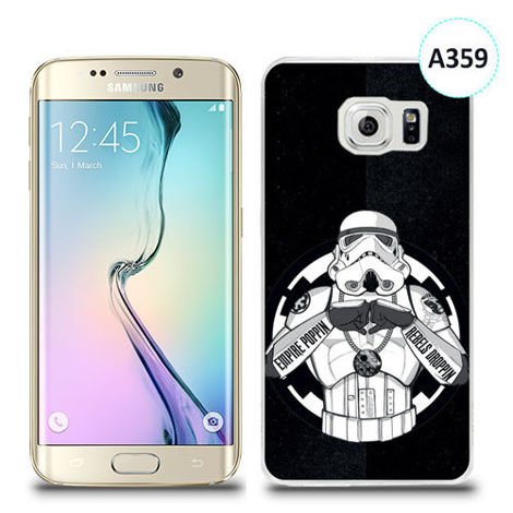 Etui silikonowe z nadrukiem Samsung Galaxy S6 Edge Plus - trooper star wars