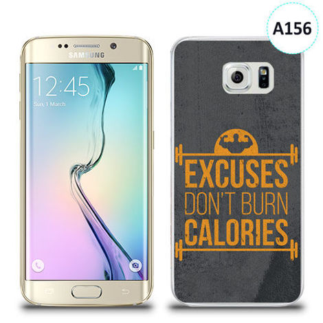 Etui silikonowe z nadrukiem Samsung Galaxy S6 Edge - excuses don't burn calories