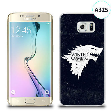 Etui silikonowe z nadrukiem Samsung Galaxy S6 Edge - gra o tron winter is coming