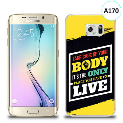 Etui silikonowe z nadrukiem Samsung Galaxy S6 Edge - take care of your body