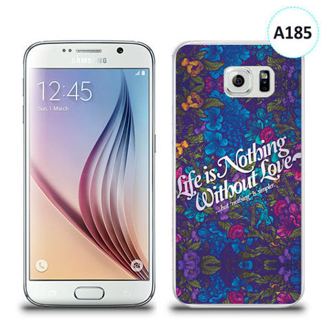 Etui silikonowe z nadrukiem Samsung Galaxy S6 - life is nothing without love