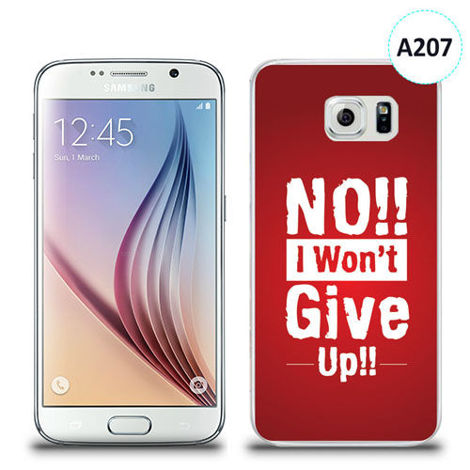 Etui silikonowe z nadrukiem Samsung Galaxy S6 - no i won't give up !