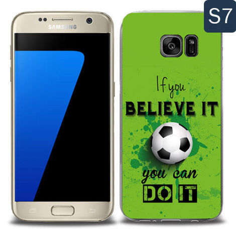 Etui silikonowe z nadrukiem Samsung Galaxy S7- if you believe it you can do it