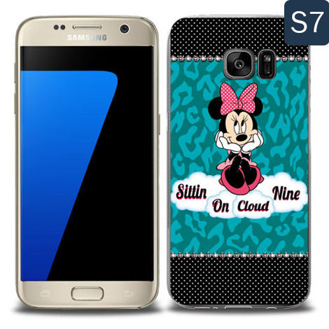 Etui silikonowe z nadrukiem Samsung Galaxy S7- minnie sittin on cloud
