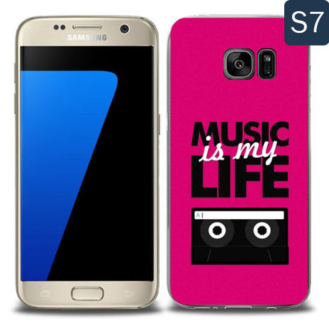 Etui silikonowe z nadrukiem Samsung Galaxy S7- music is my life