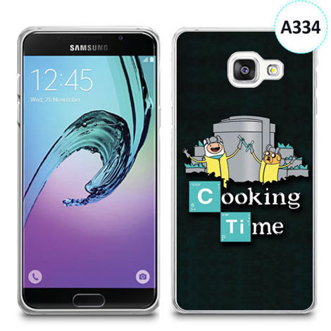 Etui silikonowe z nadrukiem Samsunga Galaxy A3 2016 - breaking bad cooking time