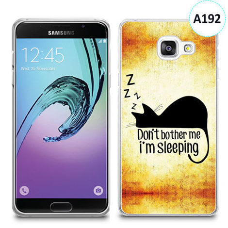 Etui silikonowe z nadrukiem Samsunga Galaxy A3 2016 -  don't bother me i'm sleeping