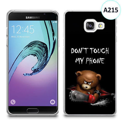 Etui silikonowe z nadrukiem Samsunga Galaxy A3 2016 -don't touch my phone bear