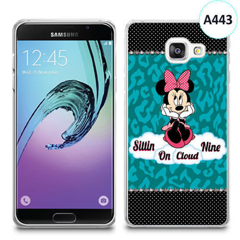 Etui silikonowe z nadrukiem Samsunga Galaxy A3 2016 - minnie sittin on cloud