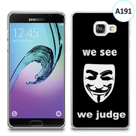 Etui silikonowe z nadrukiem Samsunga Galaxy A3 2016 - we see we judge