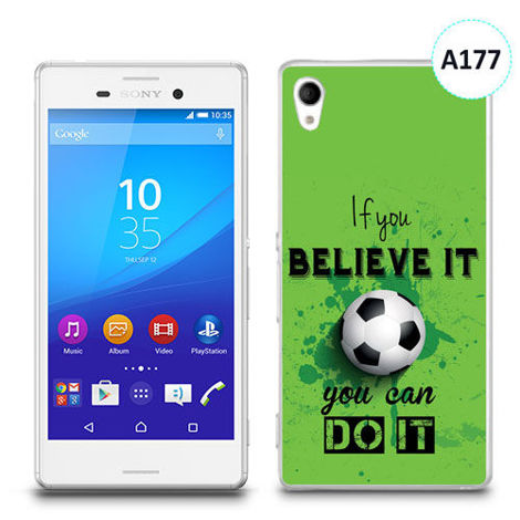 Etui silikonowe z nadrukiem Sony Xperia M4 Aqua - if you believe it you can do it