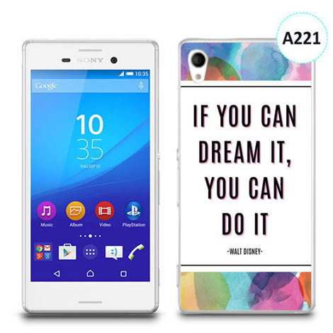 Etui silikonowe z nadrukiem Sony Xperia M4 Aqua - if you can dream it you can do it