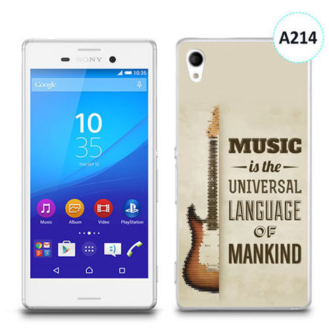 Etui silikonowe z nadrukiem Sony Xperia M4 Aqua - music is the universal language of mankind