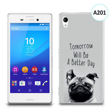 Etui silikonowe z nadrukiem Sony Xperia M4 Aqua - tomorrow will be a better day