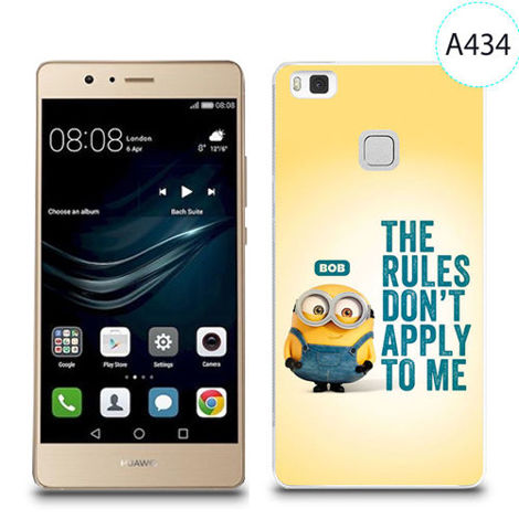 Etui silikonowe z nadrukiem do Huawei P9 Lite - minion the rules don't apply to me