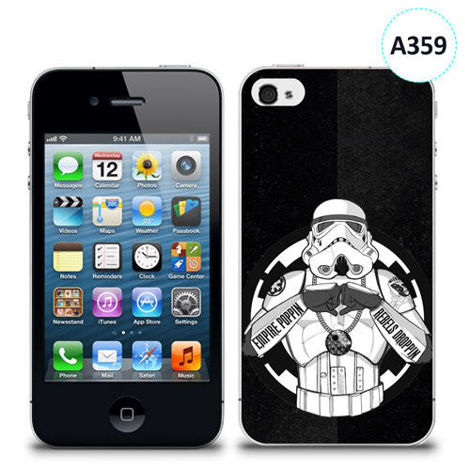 Etui silikonowe z nadrukiem iPhone 4/4S - trooper star wars