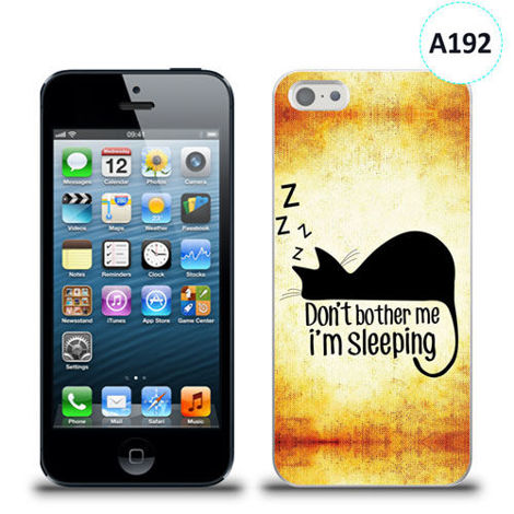 Etui silikonowe z nadrukiem iPhone 5/5s/se - don't bother me i'm sleeping