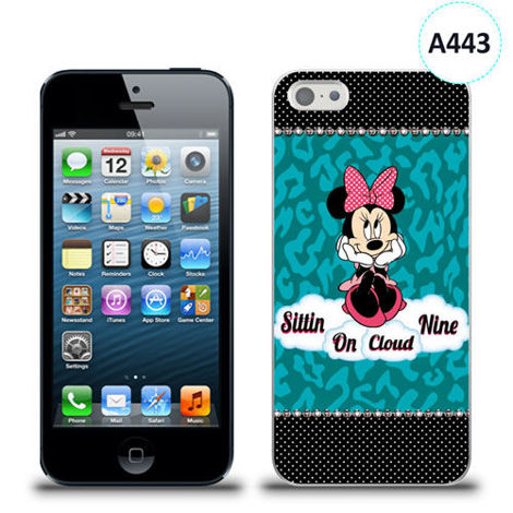 Etui silikonowe z nadrukiem iPhone 5/5s/se - minnie sittin on cloud
