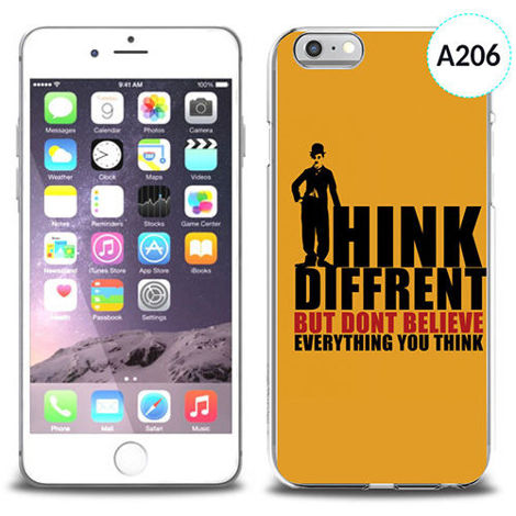 Etui silikonowe z nadrukiem iPhone 6 - don't believe everything you think