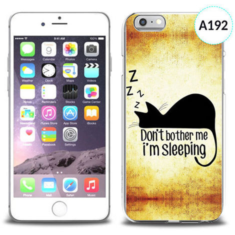 Etui silikonowe z nadrukiem iPhone 6 - don't bother me i'm sleeping
