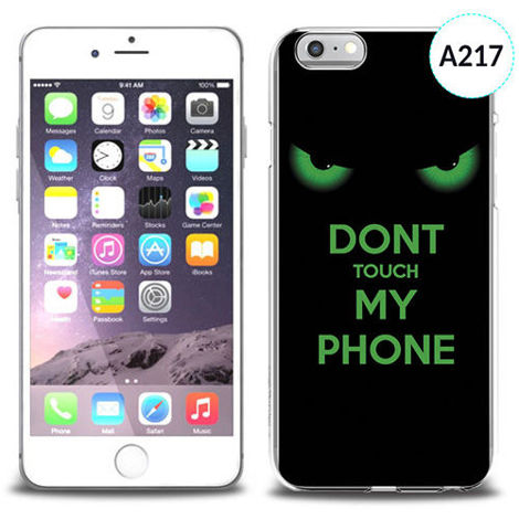 Etui silikonowe z nadrukiem iPhone 6 -don't touch my phone eyes