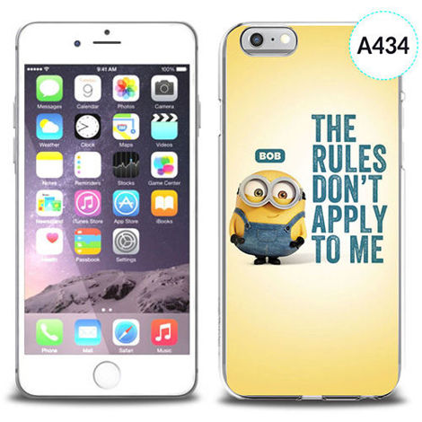 Etui silikonowe z nadrukiem iPhone 6 - minion the rules don't apply to me